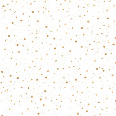 Modern abstract watercolor hand drawn seamless pattern with small gold texture dots. Perfect for festive invitation, greeting card, wrapping paper, fabric, background.