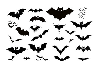 halloween silhouettes black icon and character. Vector illustration
