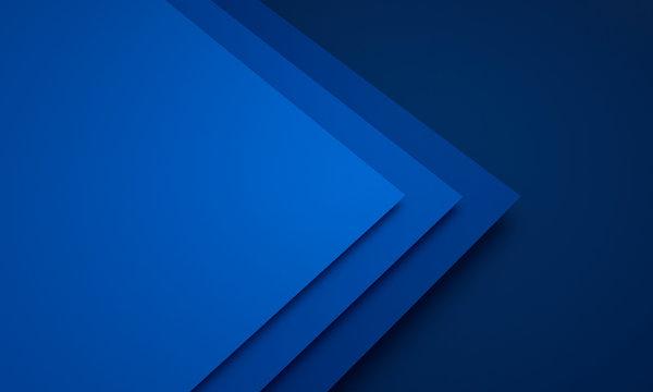 Mockup of blue cards - 3D illustration