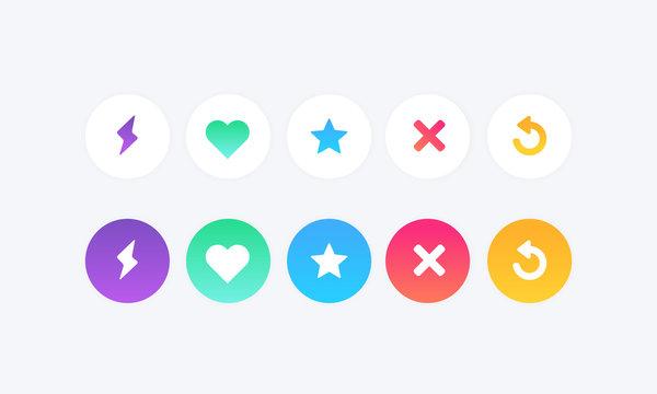 flat colors icon set vector illustration