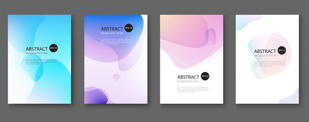 Autocollant pour porte Abstract wave Set of abstract vector backgrounds with line waves.Vector illustration.