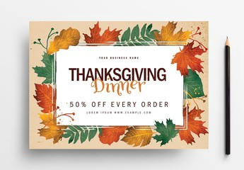 Thanksgiving Festival Flyer Layout