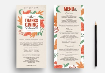 Thanksgiving Flyer Layout