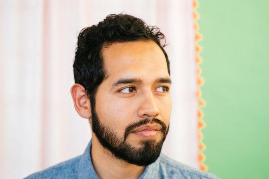 Portrait of Latino man in studio environment
