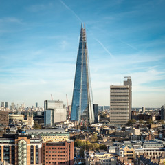 The Shard building and cityscape, London, UK