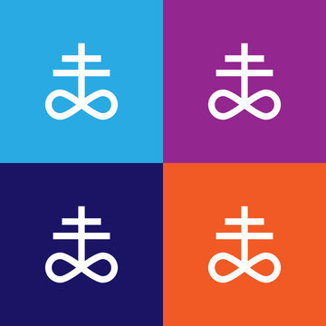 Satanism Leviathan cross sign icon. Element of religion sign icon for mobile concept and web apps. Detailed Satanism Leviathan cross icon can be used for web and mobile