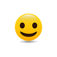 Emoji yellow smiley face vector image