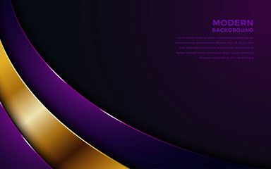 Luxurious purple and golden overlap layer background