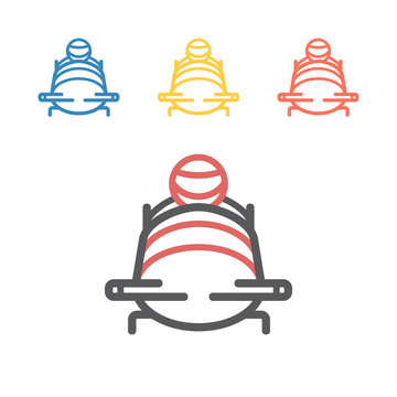 Bobsleigh line icon. Vector signs for web graphics.
