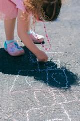 Wall Mural - Sidewalk chalk activities