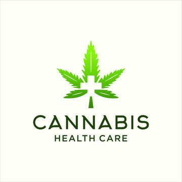 medical cannabis leaf logo vector icon download