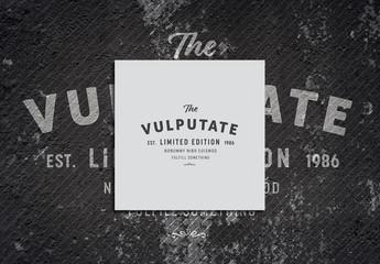 Typography Logo Layout