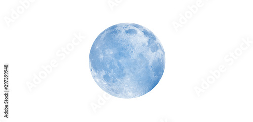Wall mural Blue full moon against milky way galaxy