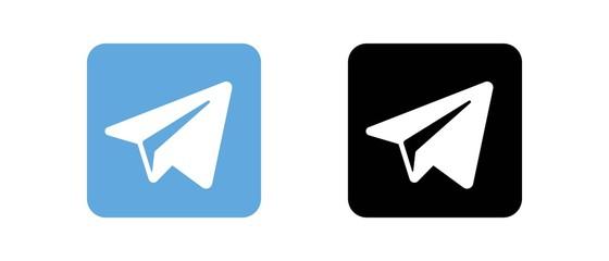 Telegram Set of social media logos
