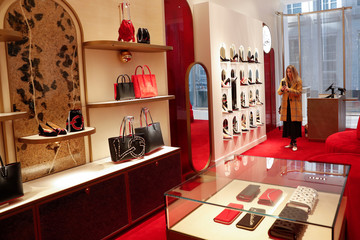 Bags are seen on display at the Nordstrom flagship store is seen during a media preview in New York