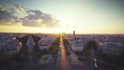 Fotomurales - Paris view from Arc de Trimphe, France