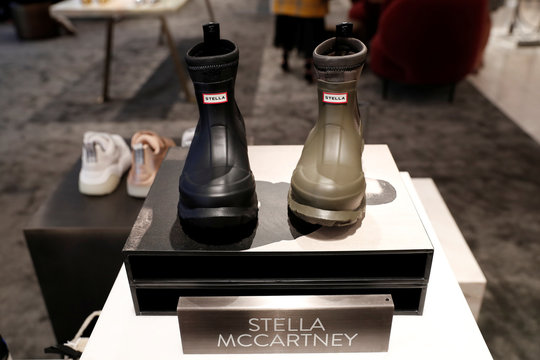 Designer Stella McCartney shoes are seen on display at the Nordstrom flagship store is seen during a media preview in New York