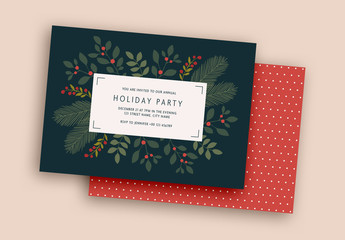 Holiday Party Invitation Layout