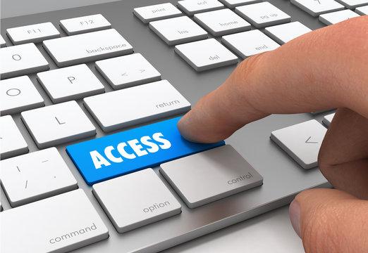 access button concept 3d illustration