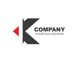 k letter illustration logo vector icon