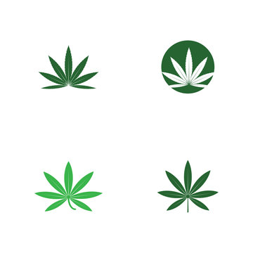 Set Cannabis Logo Template vector symbol