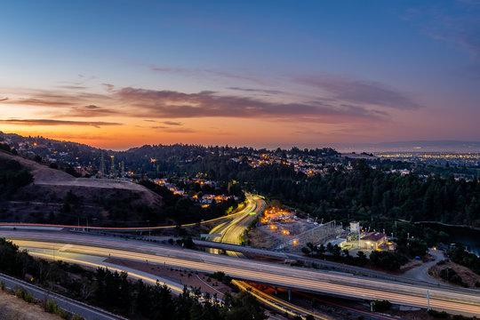 Sunrise over the San Francisco Bay Area