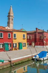 Fototapete - Colorful house in Burano island, Venice, Italy.