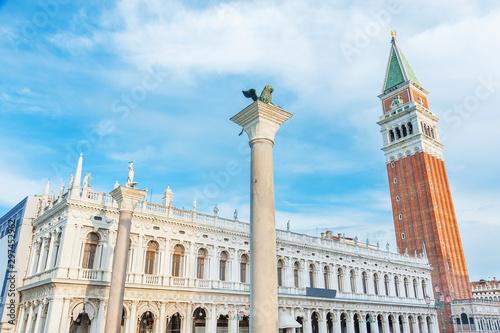 Fototapete Campanile in San Marco square, Venice, Italy