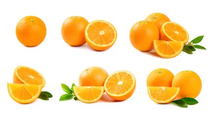 Set of Orange  isolated on white background.