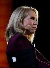 Shari Redstone, president of National Amusements and Vice Chairman, CBS and Viacom speaks at the WSJTECH live conference in Laguna Beach, California