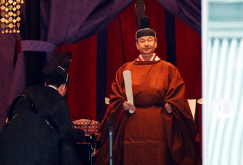 Enthronement of Japan's new Emperor Naruhito in Tokyo