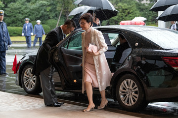 Chief Executive of Hong Kong Carrie Lam arrives to attend the enthronement ceremony of Japan's Emperor Naruhito in Tokyo