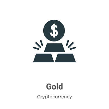Gold vector icon on white background. Flat vector gold icon symbol sign from modern cryptocurrency collection for mobile concept and web apps design.
