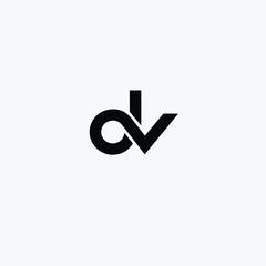 DV letter icon creative logo vector free