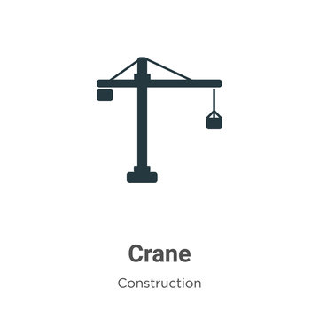 Crane vector icon on white background. Flat vector crane icon symbol sign from modern construction collection for mobile concept and web apps design.