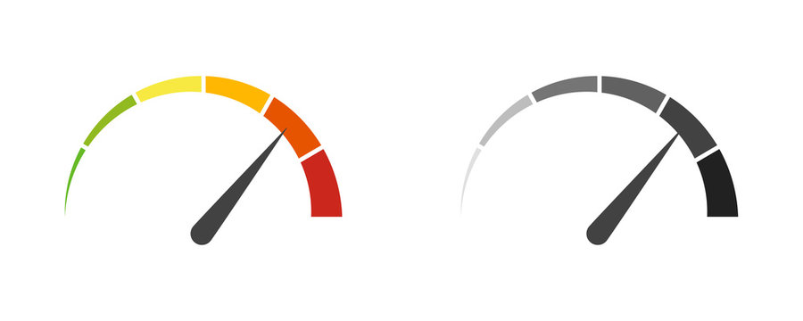 Speedometer speed car auto dashboard vector isolated icons. Fast time concept. Speed motion design. Speed indicator icon.
