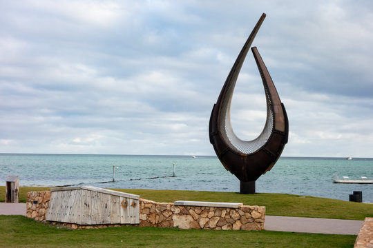 The Union modern art sculpture in Denham city in Wester Australia