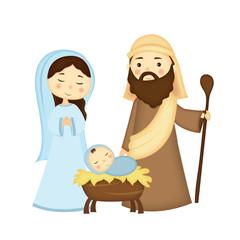 illustrazione sacra famiglia