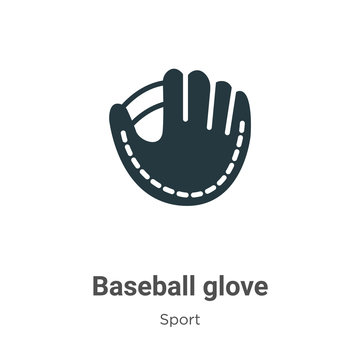 Baseball glove vector icon on white background. Flat vector baseball glove icon symbol sign from modern sport collection for mobile concept and web apps design.