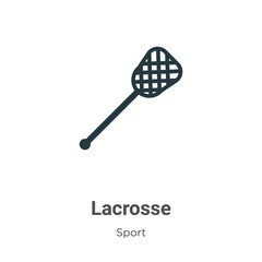Lacrosse vector icon on white background. Flat vector lacrosse icon symbol sign from modern sport collection for mobile concept and web apps design.