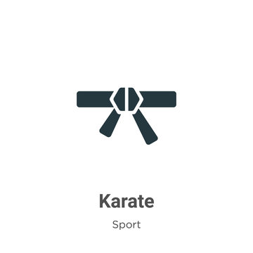 Karate vector icon on white background. Flat vector karate icon symbol sign from modern sport collection for mobile concept and web apps design.