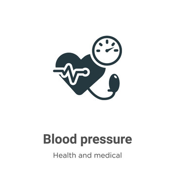 Blood pressure vector icon on white background. Flat vector blood pressure icon symbol sign from modern health and medical collection for mobile concept and web apps design.