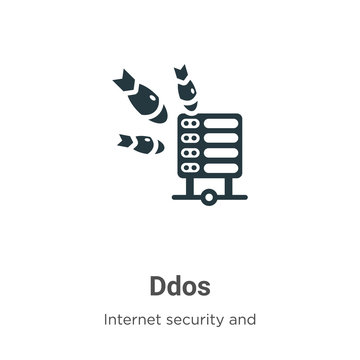 Ddos vector icon on white background. Flat vector ddos icon symbol sign from modern internet security and networking collection for mobile concept and web apps design.