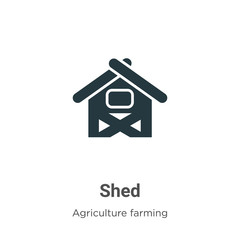 Shed vector icon on white background. Flat vector shed icon symbol sign from modern agriculture farming and gardening collection for mobile concept and web apps design.