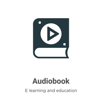 Audiobook vector icon on white background. Flat vector audiobook icon symbol sign from modern e learning and education collection for mobile concept and web apps design.