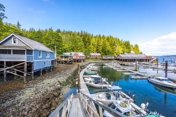 Marina at Telegraph Cove, Vancouver Island, British Columbia, Canada