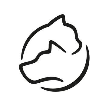 Hund und Katze Logo