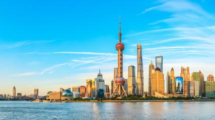 Garden Poster Shanghai Architectural landscape and city skyline in Shanghai