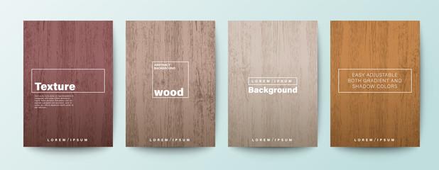 Set of wood texture background. Wooden board background for Brochure, Flyer, Poster, leaflet, Annual report, Book cover, Banner, Presentation, Website, App, wallpaper. Fotomurales