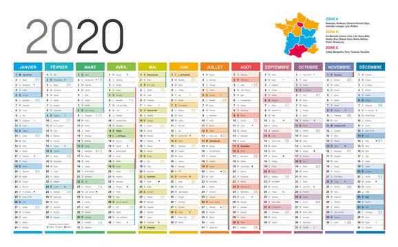 Calendrier 2020 - Recto Verso